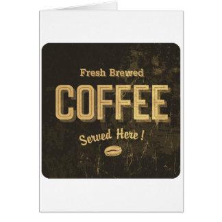Cartes de voeux brassées fraîches de café