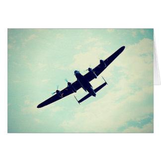 cartes de voeux de bombardier de Lancaster