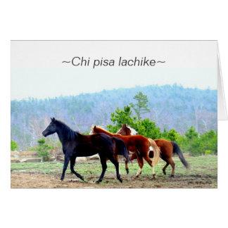 Cartes de voeux de Choctaw (lachike de Pise de