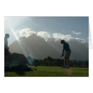 Cartes de voeux de conception de golfeur
