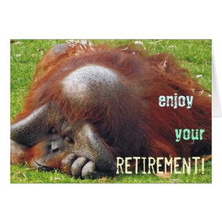 Cartes de voeux de détente de photo de retraite