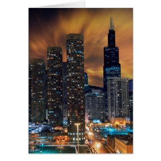 Cartes de voeux de gratte-ciel de Chicago