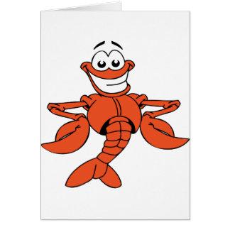 Cartes de voeux de homard de bande dessinée