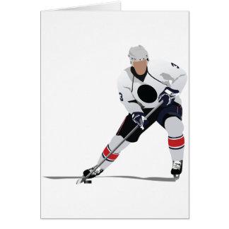 Cartes de voeux de joueur de hockey de glace