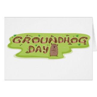 Cartes de voeux de jour de Groundhog