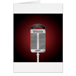 Cartes de voeux de microphone de chant