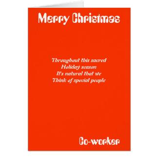 Cartes de voeux de Noël de collègue