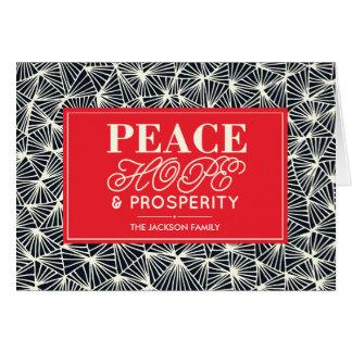 Cartes de voeux de paix, d'espoir et de prospérité