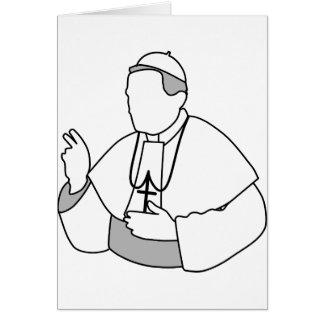 Cartes de voeux de pape