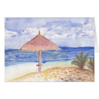 Cartes de voeux de parapluie de plage