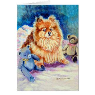 Cartes de voeux de Pomeranian