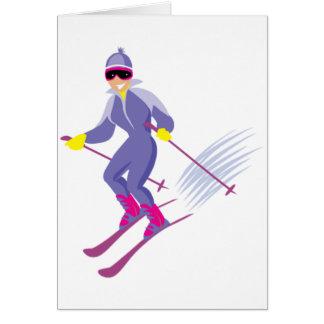 Cartes de voeux de ski