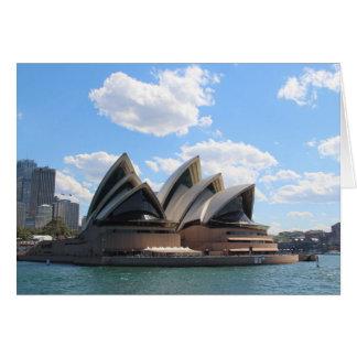 Cartes de voeux de théatre de l'opéra de Sydney