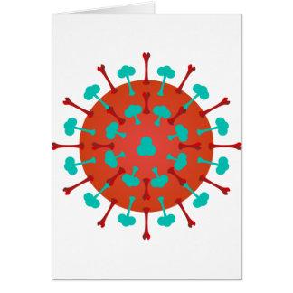 Cartes de voeux de virus de grippe
