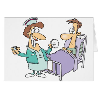 Cartes de voeux d'infirmière et de patient