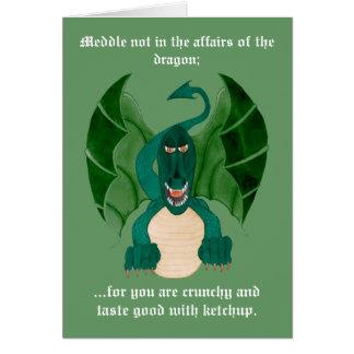 Cartes de voeux drôles de dragon