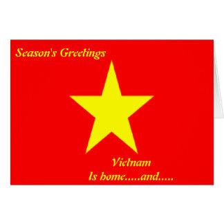 Cartes de voeux du Vietnam bonnes fêtes