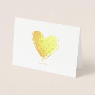 Cartes de voeux gravées à l'eau-forte de coeur de