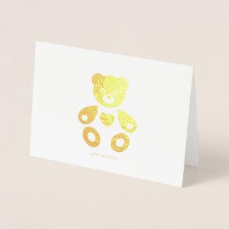 Cartes de voeux gravées à l'eau-forte d'ours de