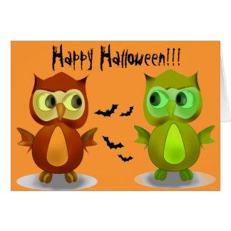 Cartes de voeux heureuses de Halloween