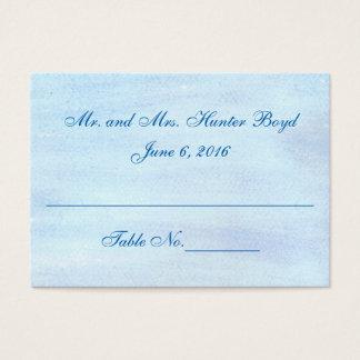 """Cartes d'endroit """"d'aquarelle bleue"""""""