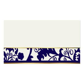 Cartes d'endroit de bleu marine et de crème carte de visite standard