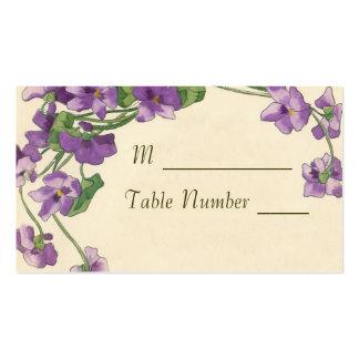 Cartes d'endroit de mariage carte de visite standard