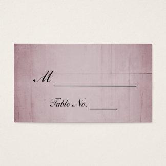 Cartes d'endroit de mariage de colibri de rose de