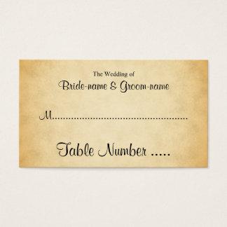 Cartes d'endroit de mariage de conception de motif carte de visite standard