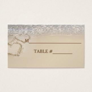 CARTES D'ENDROIT DE TABLE - MARIAGE DE LA PLAGE