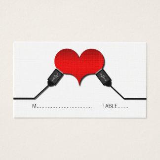 Cartes d'endroit d'USB de connexion d'amour,