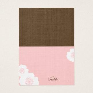 Cartes d'endroit pliées par pavots modernes - rose