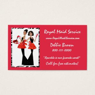 Cartes d'entreprise de services de domestique