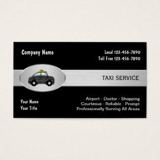 Cartes d'entreprise de services de taxi
