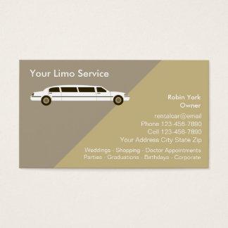 Cartes d'entreprise de services de voiture de