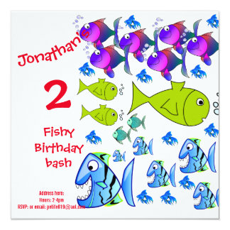 cartes d'invitation de l'anniversaire des enfants carton d'invitation  13,33 cm