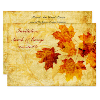 cartes d'invitation de mariage de automne