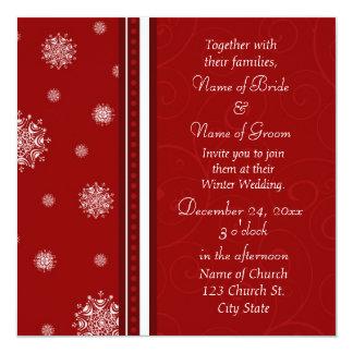 Cartes d'invitation de photo de mariage d'hiver carton d'invitation  13,33 cm