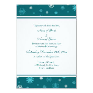 Cartes d'invitation de photo de mariage d'hiver de carton d'invitation  12,7 cm x 17,78 cm