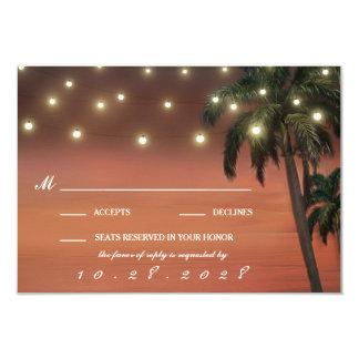 Cartes du mariage de plage de coucher du soleil de