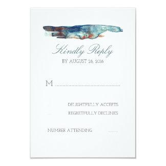 Cartes du mariage de plage d'éclaboussure carton d'invitation 8,89 cm x 12,70 cm