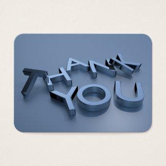 """cartes du Merci 3D avec les coins ronds 3,5"""" x"""