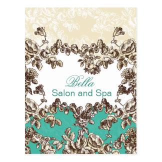 cartes élégantes d'affaires de flourish d'aqua carte postale