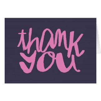 Cartes en lettres de Merci de baby shower de main