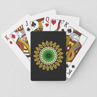 Cartes en spirale géométriques oranges vertes jeu de cartes