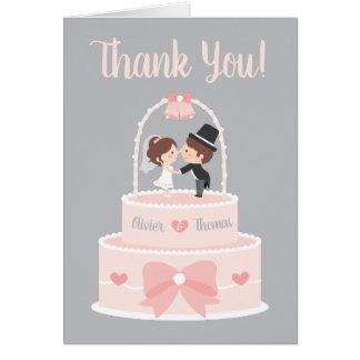 Cartes épatantes de Merci de mariage de jeunes