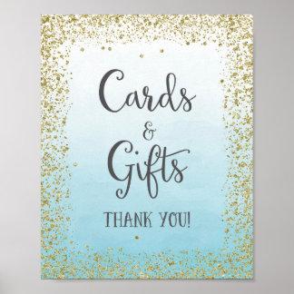 Cartes et cadeaux épousant la copie d'affiche