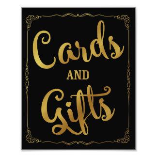 cartes et or de signe de mariage de partie de photos d'art