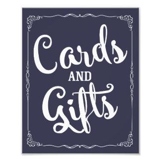 cartes et signe de mariage de partie de cadeaux photos d'art