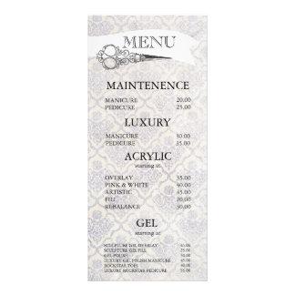 Cartes fleuries vintages de menu de salon de cartes doubles